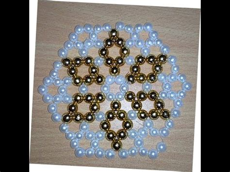 How To Make Table Mat by Pearl Beaded Table Mat Design 3