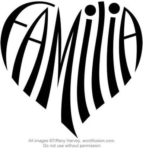 quot familia quot heart design a custom design of the word