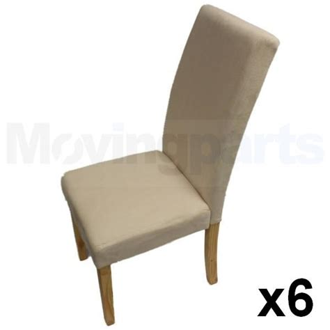 Brown Suede Dining Chairs 6 Faux Suede Dining Chairs Material Fabric Furniture Brown Oak Effect Ebay