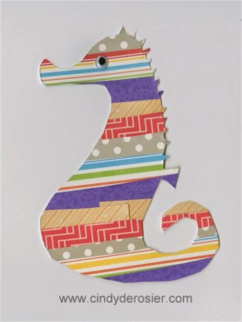 How To Make A Seahorse Out Of Paper - scrap paper seahorse family crafts