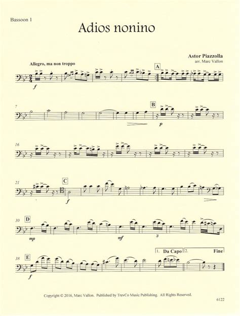 sections of a choir adios nonino score parts dr choir trevco varner music