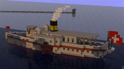 steam boat project le neuch 226 tel swiss steam boat minecraft project