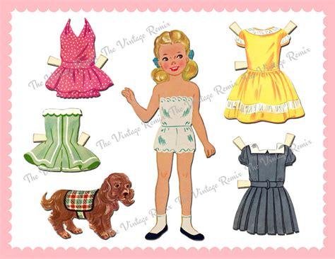 printable vintage paper dolls instant download printable paper doll retro vintage blonde