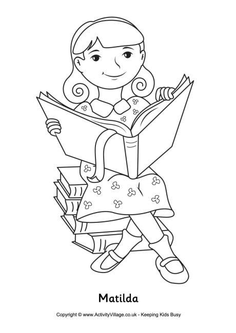 matilda colouring page language arts and handwriting