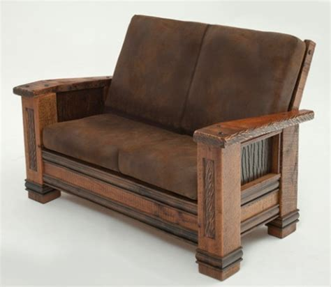 cabin sofa recycled wood furniture eco friendly reclaimed furniture