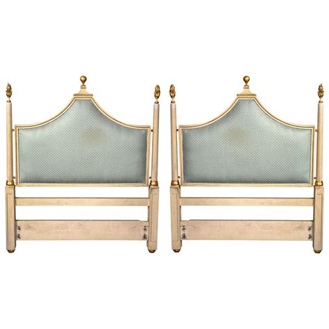 hollywood regency painting pair of paint decorated hollywood regency twin headboards