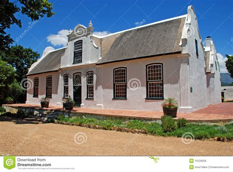 Colonial Farmhouses Wine Farmhouse In Colonial Style South Africa Stock