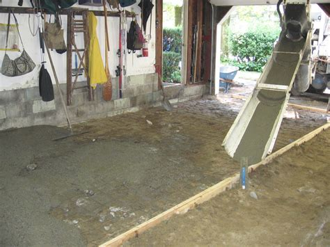concrete garage basement shed floors mixed on site