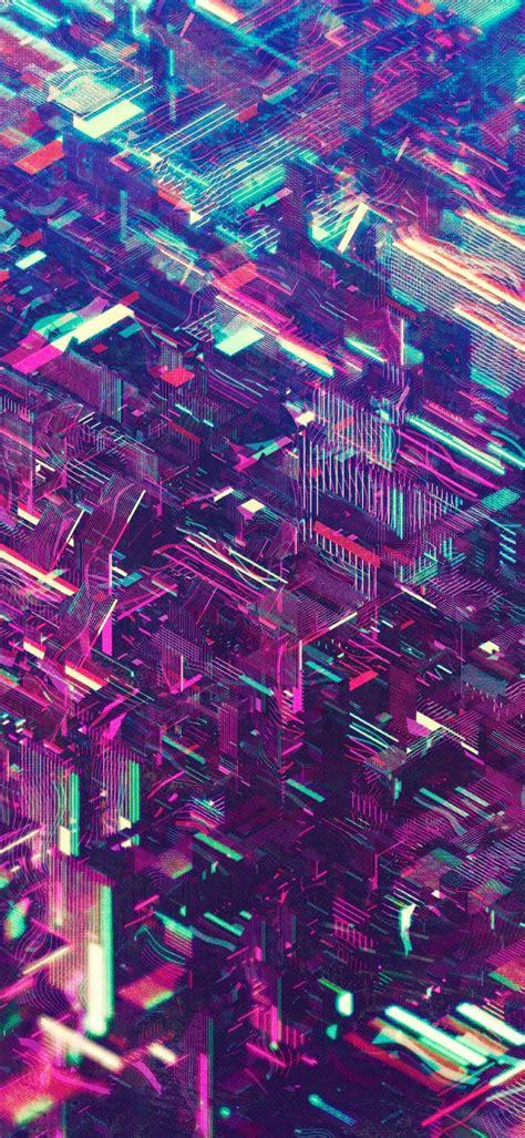 atelier olschinsky neon cities abstract iphone