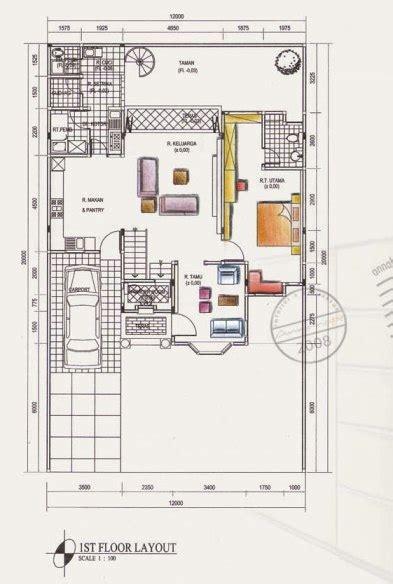 contoh denah rumah layout annahape studio desain rumah layout annahape studio desain rumah desain interior