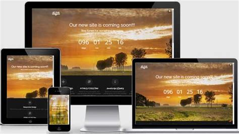 50 Free Coming Soon Under Construction Html Templates Freshdesignweb Template Free Responsive