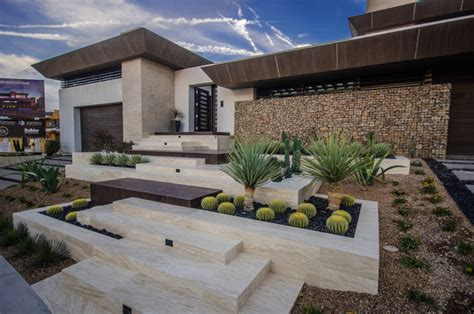 new american home contemporary landscape las vegas