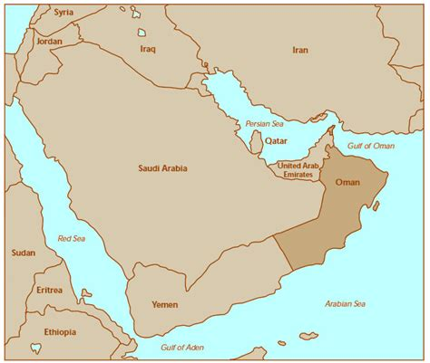 oman in the world map oman maps