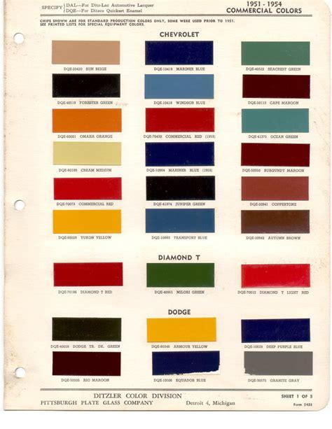 paint chips 1951 dodge truck fleet commercial