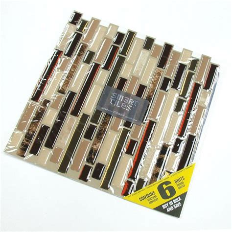 smart tiles bellagio keystone 10 06 in w x 10 00 in h peel and stick decorative mosaic wall smart tiles bellagio keystone 10 06 in w x 10 00 in h