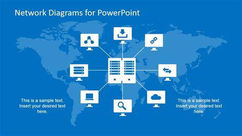 simple network diagrams for powerpoint slidemodel