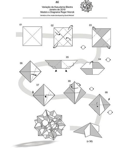 Origami Kugel Anleitung by Kusudama Spike