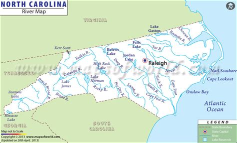 map world nc buy carolina river map