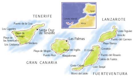 islas canarias y africa mapa mapa f 237 sico de las islas canarias tama 241 o completo