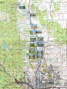 santa fe trail colorado springs map monument creek and new santa fe trails