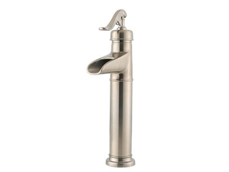 well sink faucet brushed nickel vintage well waterfall vessel faucet
