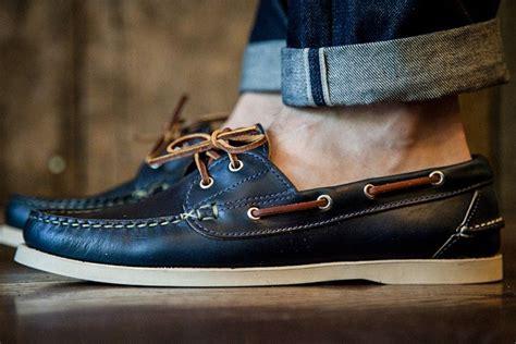 chromexcel boat shoes oak street bootmakers boat shoe navy chromexcel man