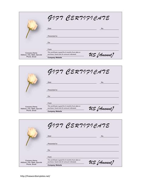 Donation Card Template Word by Gift Certificates Templates Free New Calendar Template Site