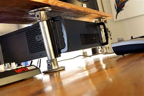 reclaimed wood diy studio desk simplified building
