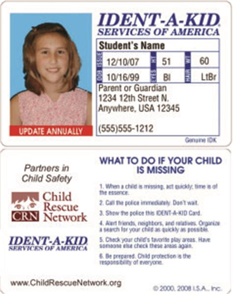 toddler tuesday taking away your child s security child safety id cards child rescue network