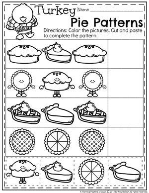 thanksgiving pattern worksheets kindergarten 8562 best best of thanksgiving kindergarten first
