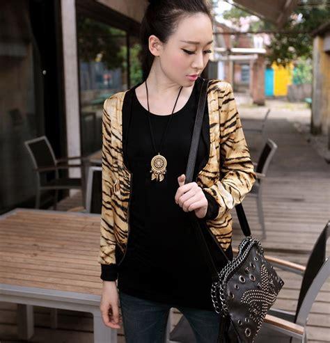 Atasan Import 158 jaket wanita import leopard model terbaru jual