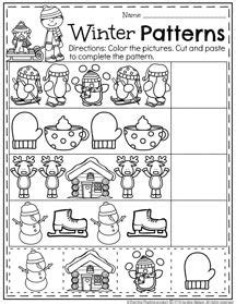 winter pattern worksheets for kindergarten january preschool worksheets worksheets january and winter
