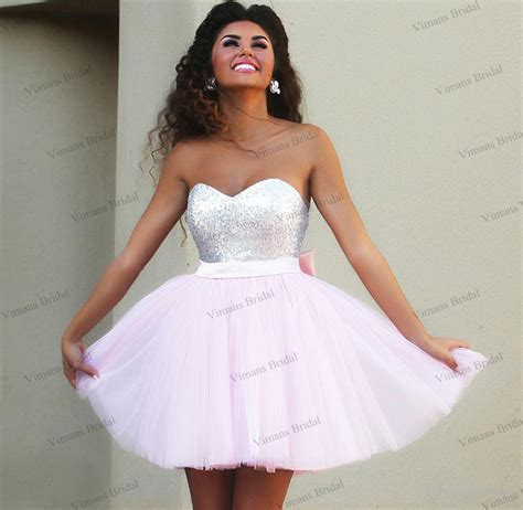 Sale Latisha Formal Dress cheap sale prom dresses sweetheart top sequins tulle light pink cocktail dresses with