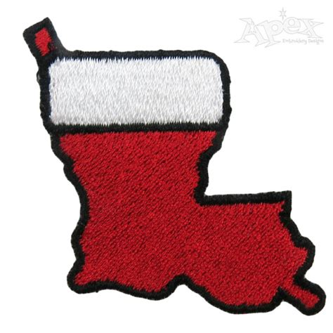 embroidery patterns for christmas stocking louisiana christmas stocking embroidery design