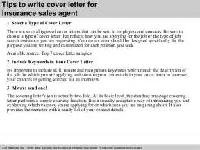 Insurance sales agent cover letter