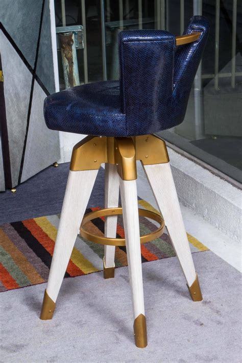 Custom Bar Stools For Sale by Custom Bar And Stools By Dragonette For Sale At 1stdibs
