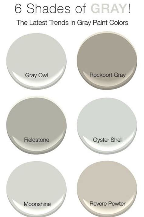 light gray paint colors benjamin