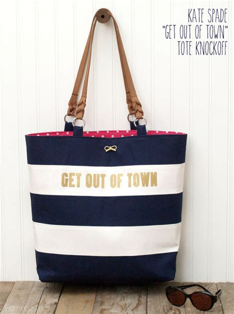 Tote Your To Town In My Bag by Kate Spade Nautical Tote Knockoff