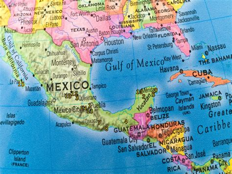 a map of america and mexico maps update 640420 mexico travel destinations map tag