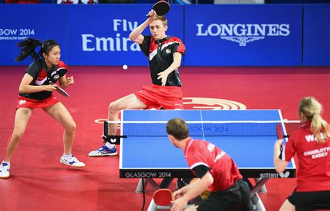 table tennis doubles 20th commonwealth table tennis pictures zimbio