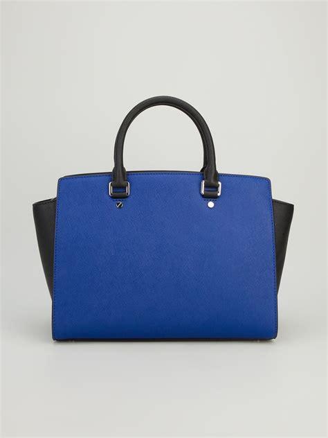 5in1 Michael Kors Julien lyst michael michael kors colour block tote bag in blue