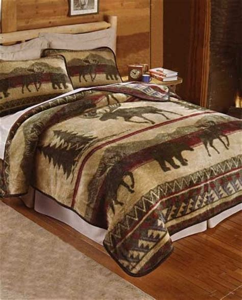 moose comforter set moose bedding set castlecreek moose applique chenille