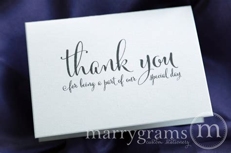 Thank You Letter Vendor vendor thank you card for wedding our special day