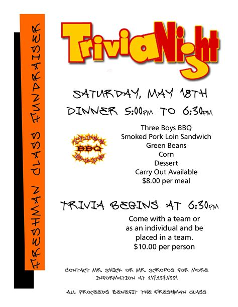 free trivia flyer template south fork school district 14 trivia