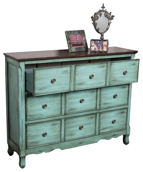 accent chest of drawers wayne antique inspired teal blue wood 3 drawer chest of