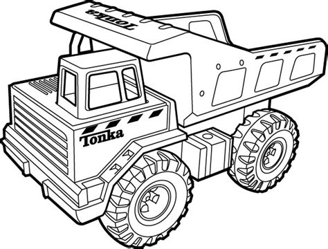 Tonka Truck Coloring Pages tonka dump truck coloring page coloring pages