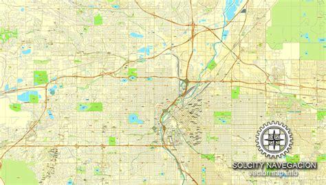 map of colorado vector denver colorado us printable vector street city plan map full editable adobe illustrator
