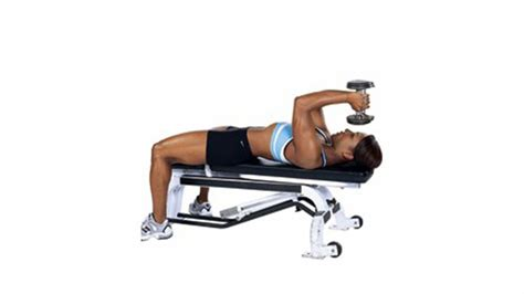 bench tricep extension dumbbell lying triceps extension muscle fitness