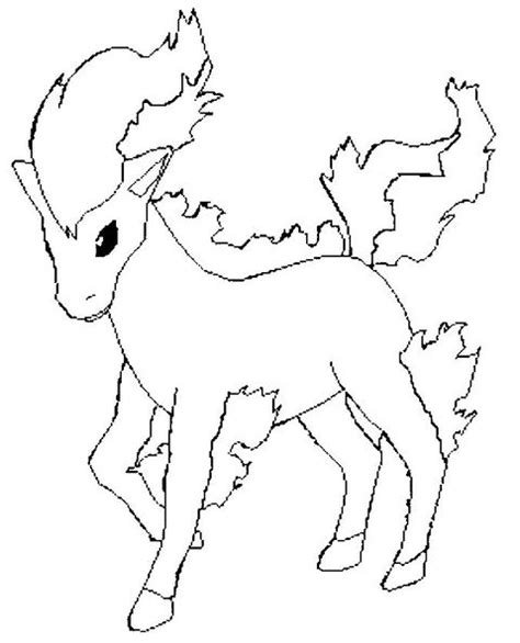 pokemon coloring pages rapidash ponyta coloring picture of pokemon 77
