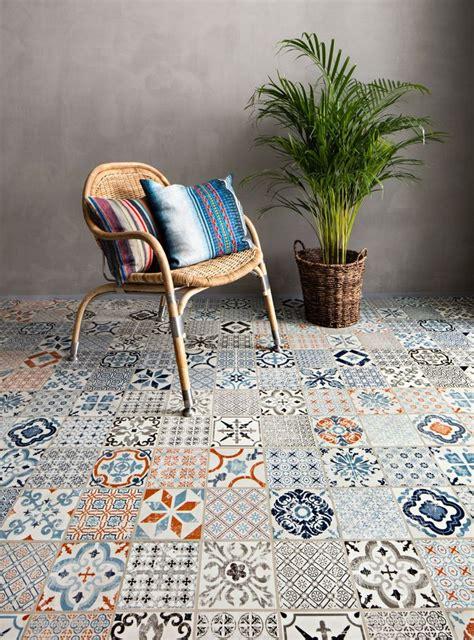 mosaic patterned click vinyl flooring  tarkett